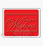 Singlz Embossing Folder - Phrase Warm Wishes [S]