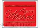 Singlz Embossing Folder - Phrase Warm Wishes [S]