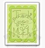 Singlz Embossing Folder - Thank You So Much with Frame [S]