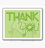 Singlz Embossing Folder - Phrase Thank You with Flower [S]
