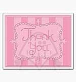 Singlz Embossing Folder - Phrase Thank You with Frame [L]