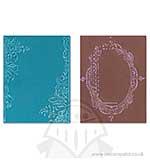 Texture Fades Embossing Folders 2PK - Fancy Floral Frames