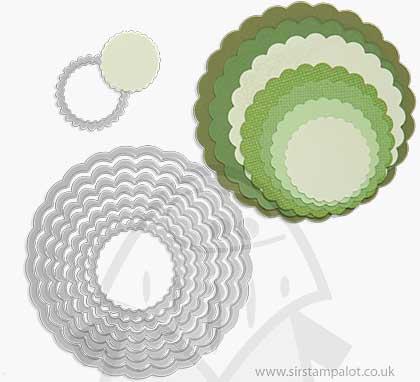 Sizzix - Framelits Die Set - Circles Scallop (8pk)