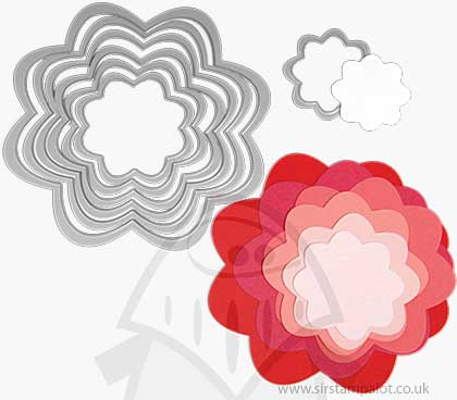 Sizzix - Framelits Die Set - Flowers (7pk)