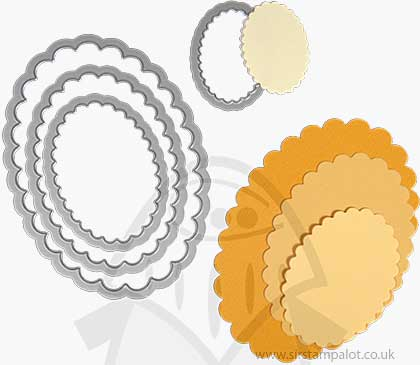 Sizzix - Framelits Die Set - Ovals Scallop (4pk)