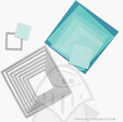 Sizzix - Framelits Die Set - Squares (8pk)