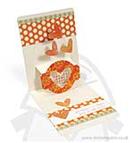 Pop n Cuts XL Die set Card Horizontal A2 w/Circle Label 3-D