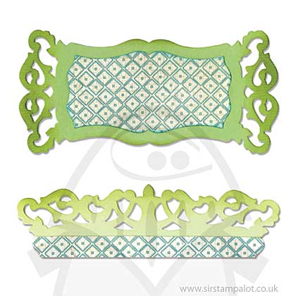 Sizzlits Die - Label and Edge Scrollwork