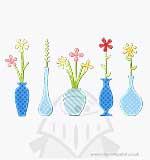 Paula Pascual Thinlits Die Set - Flower Vases (18pk)