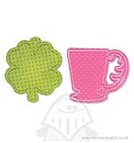 SO: Sizzix Bigz Die wBonus Textured Impressions -Cup and Clover Tags