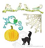 Thinlits Die Set 5PK - Pumpkin Car Crows and Web