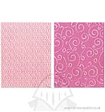 Textured Impressions Embossing Folders 2PK - Swirls and Squares