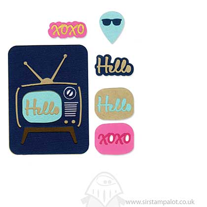 Thinlits Die Set 7PK - Retro TV by Rachael Bright