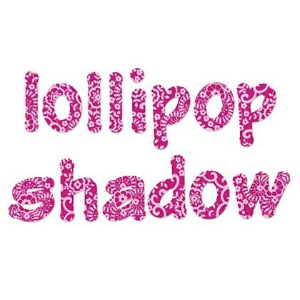 Bigz Alphabet 4 Die Set - Lollipop Shadow L-Case Letters [657893