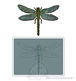 SO: Bigz Die wTexture Fades - Layered Dragonfly by Tim Holtz
