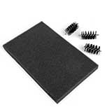 Replacement Foam Mat and 3 x Brush Heads for the Sizzix Die Cleaning Tool (660513)