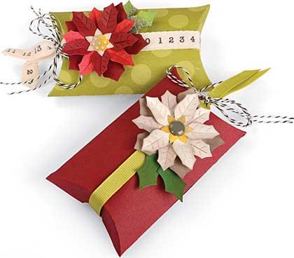 Sizzix Thinlits Dies 7pk - Pillow and Poinsettias Box