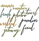 Handwritten Vacation - Sizzix Thinlits Dies by Tim Holtz (9pk)