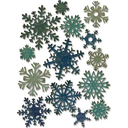 Mini Paper Snowflakes - Sizzix Thinlits Dies by Tim Holtz (23pk)
