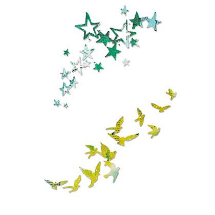 Sizzix Thinlits - Pete Hughes - Birds and Stars