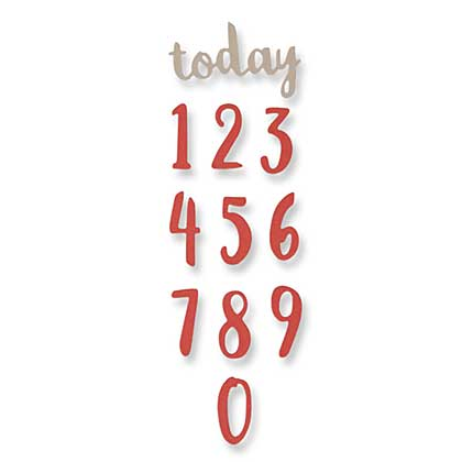 Sizzix Thinlits - Brush Numbers