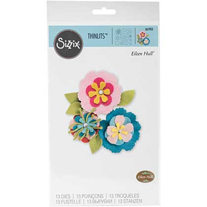 SO: Sizzix Thinlits - Stitchy Flowers and Leaf by Eileen Hull (13pk)
