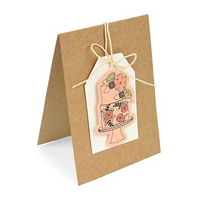 Sizzix Framelits with Stamps - Floral Cake