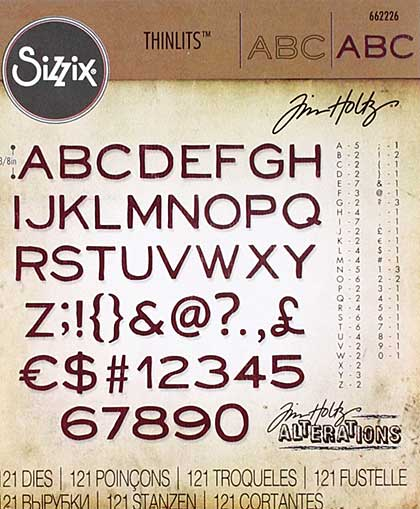 SO: Sizzix Thinlits -  Thin (3-8 inch tall) (121 dies)