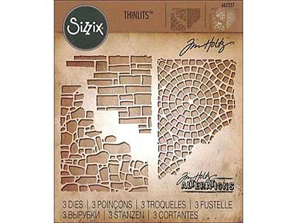 Sizzix Thinlits - Mixed Media #4 by Tim Holtz (3 dies)