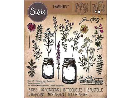 SO: Sizzix Thinlits - Flower Jar by Tim Holtz (16pk)