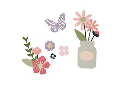 Sizzix Thinlits Die Set - Garden Florals 17pk by My Life Handmade
