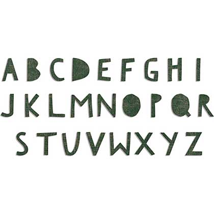 Sizzix Bigz XL Die - Cutout Uppercase Alphabet - by Tim Holtz
