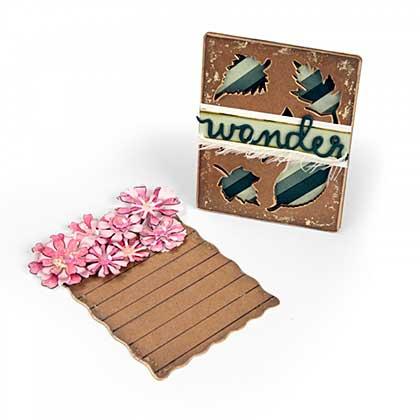 Sizzix Thinlits Dies By Eileen Hull - Flowers & Leaves Journaling Cards