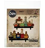 Sizzix Thinlits Dies - Laboratory Bottles by Tim Holtz (28 dies)