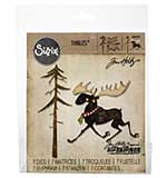 Sizzix Thinlits Dies - Merry Moose by Tim Holtz (12 dies)