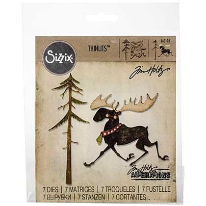 Sizzix Thinlits Dies - Merry Moose by Tim Holtz (12 dies)