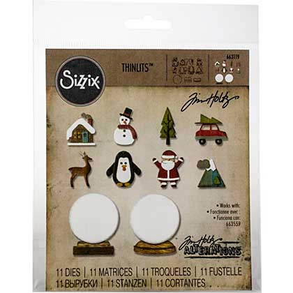 Sizzix Thinlits Dies - Tiny Snow Globes by Tim Holtz (11pk)
