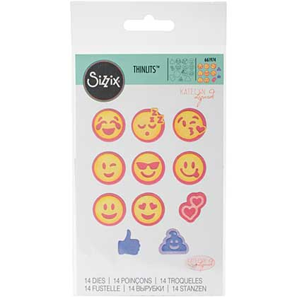 Sizzix Thinlits Dies - Emojis by Katelyn Lizardi (14pk)