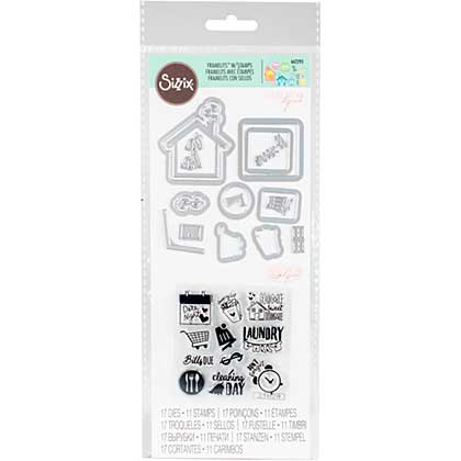 Sizzix Framelits Die & Stamp Set - Household Planner by Katelyn Lizardi