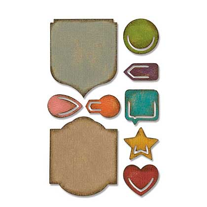 Sizzix Sidekick Side-Order Thinlits Set - Noted by Tim Holtz