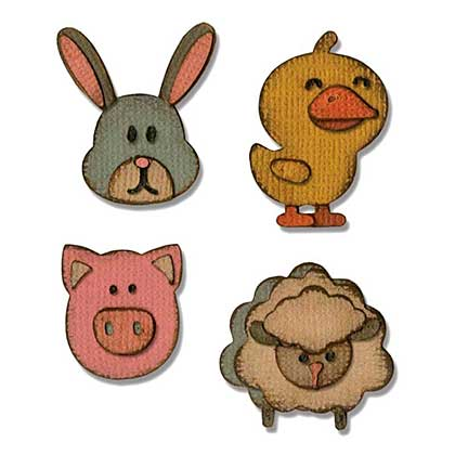 Sizzix Sidekick Side-Order Thinlits Set - Critters by Tim Holtz