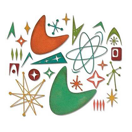 Sizzix Thinlits Die Set - Atomic Elements by Tim Holtz (25pk)