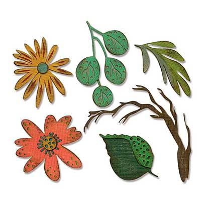 Sizzix Thinlits Die Set - Funky Floral, Large by Tim Holtz (6pk)