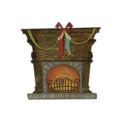 SO: Sizzix Thinlits - Festive Fireside (Fireplace) Dies By Tim Holtz