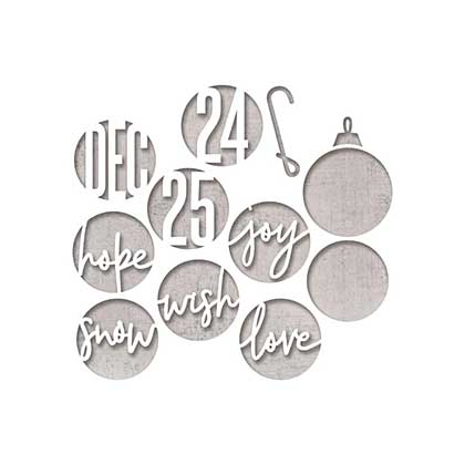 Sizzix Thinlits - Circle Words, Christmas Dies By Tim Holtz