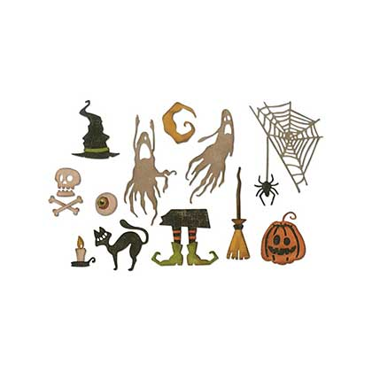 Sizzix Thinlits - Frightful Things Dies By Tim Holtz