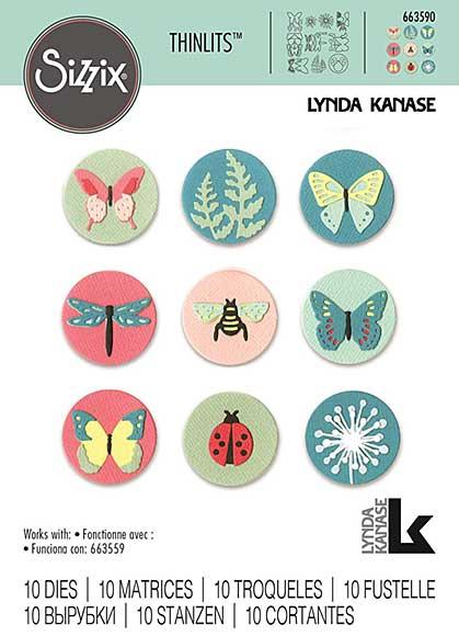 Sizzix Thinlits Die Set 10PK Tiny Nature by Lynda Kanase