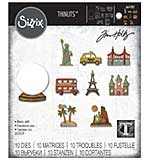 Sizzix Thinlits Die Set 10PK Tiny Travel Globe by Tim Holtz