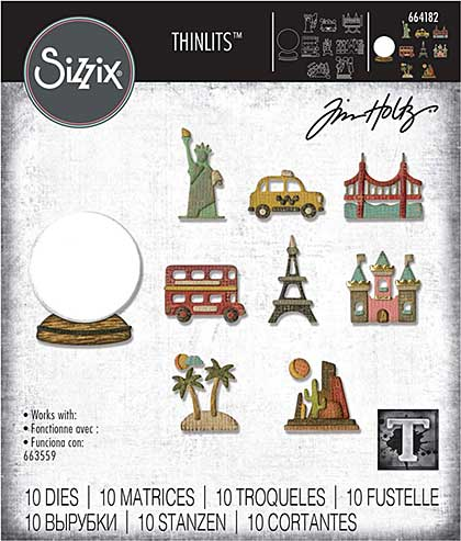 SO: Sizzix Thinlits Die Set 10PK Tiny Travel Globe by Tim Holtz