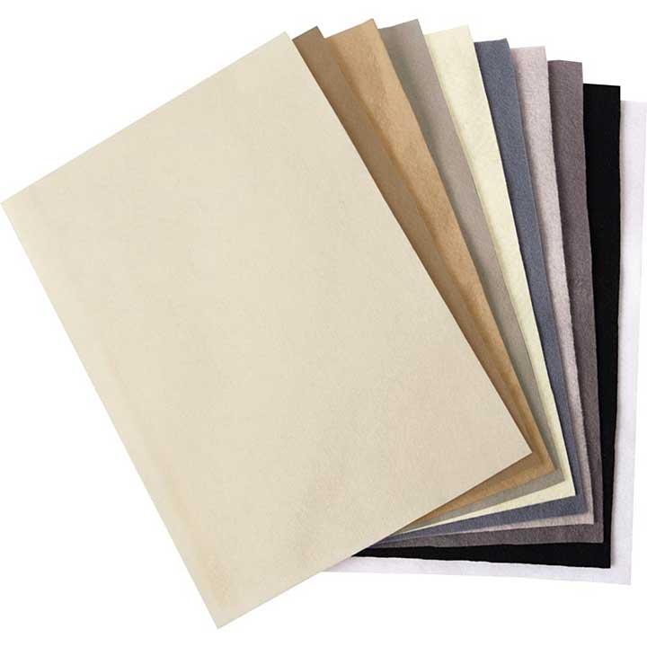 SO: Sizzix Felt Sheets - Natural Colours (10pk)